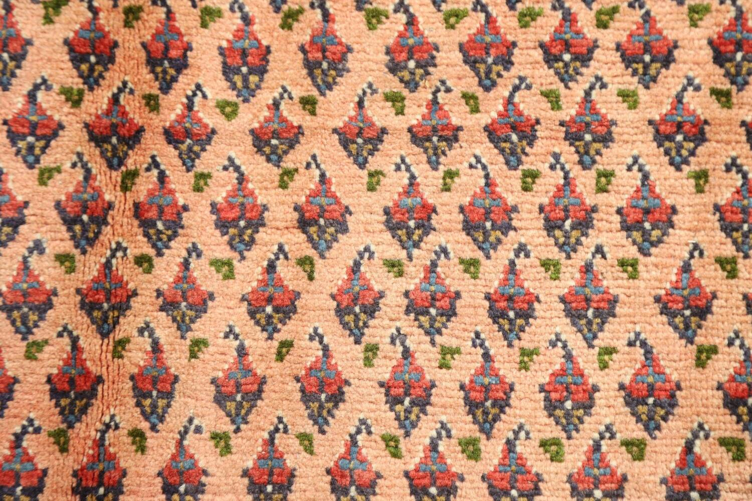 All-Over Peach Botemir Persian Runner Rug 3x14 image 9