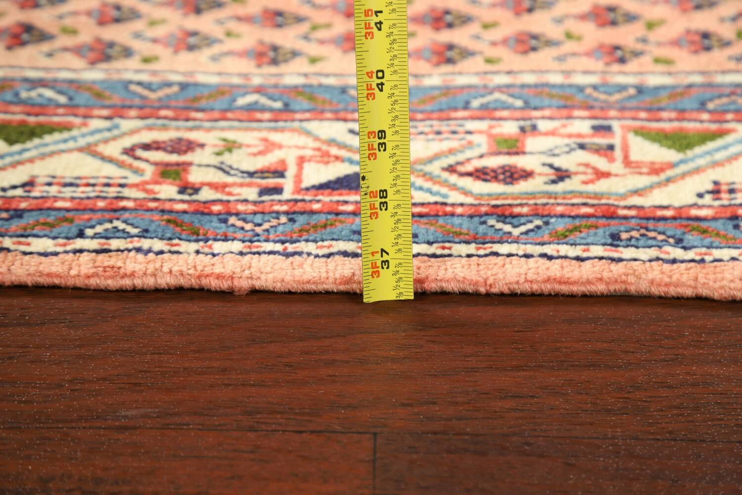 All-Over Peach Botemir Persian Runner Rug 3x14 image 17