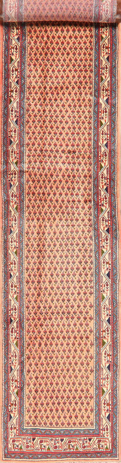 All-Over Peach Botemir Persian Runner Rug 3x14 image 1