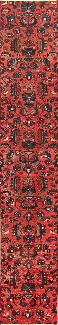 All-Over Antique Hamedan Persian Runner Rug 2x11