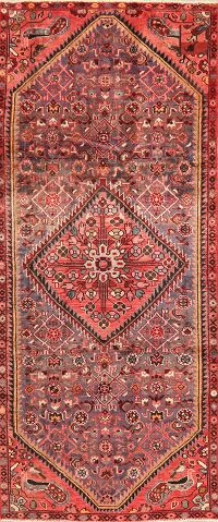 Vintage Animal Pictorial Malayer Persian Runner Rug 4x9