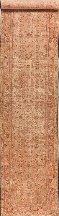 Antique Pre-1900 Heriz Bakhshayesh Persian Runner Rug 3x17