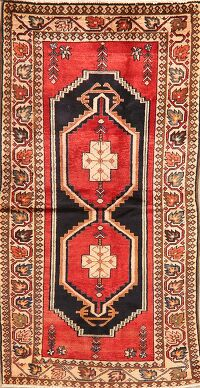 Geometric Red Bakhtiari Persian Area Rug 3x6