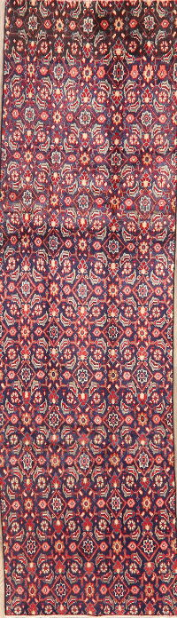 Vintage All-Over Mahal Persian Runner Rug 3x9