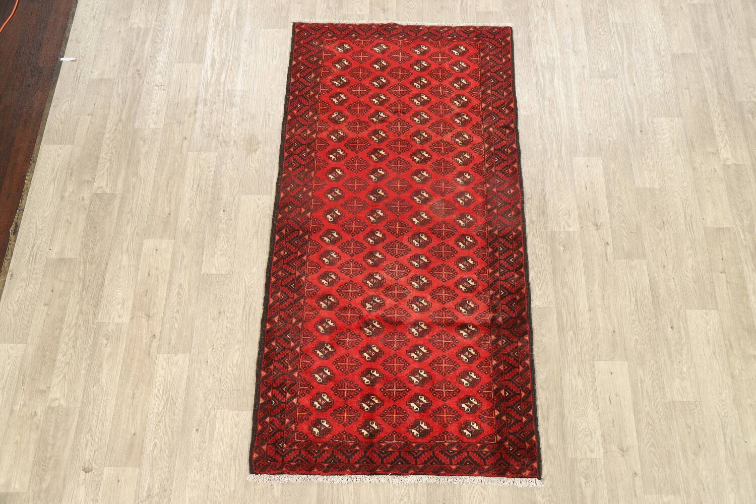 All-Over Red Geometric Balouch Persian Area Rug 4x7 image 2