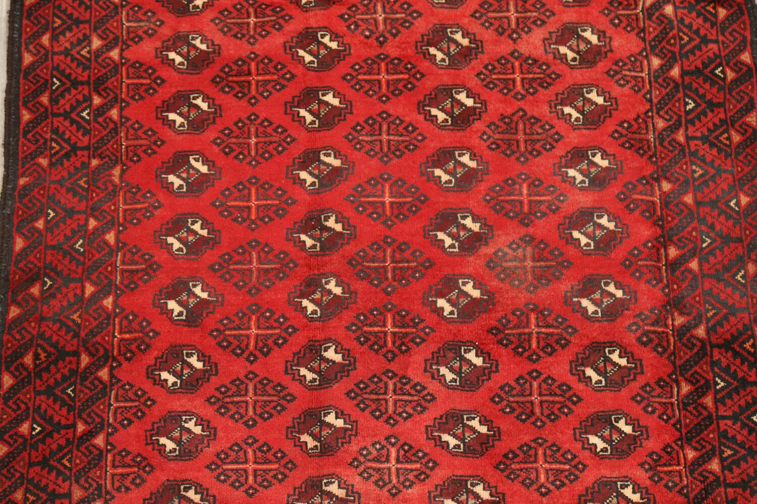 All-Over Red Geometric Balouch Persian Area Rug 4x7 image 4