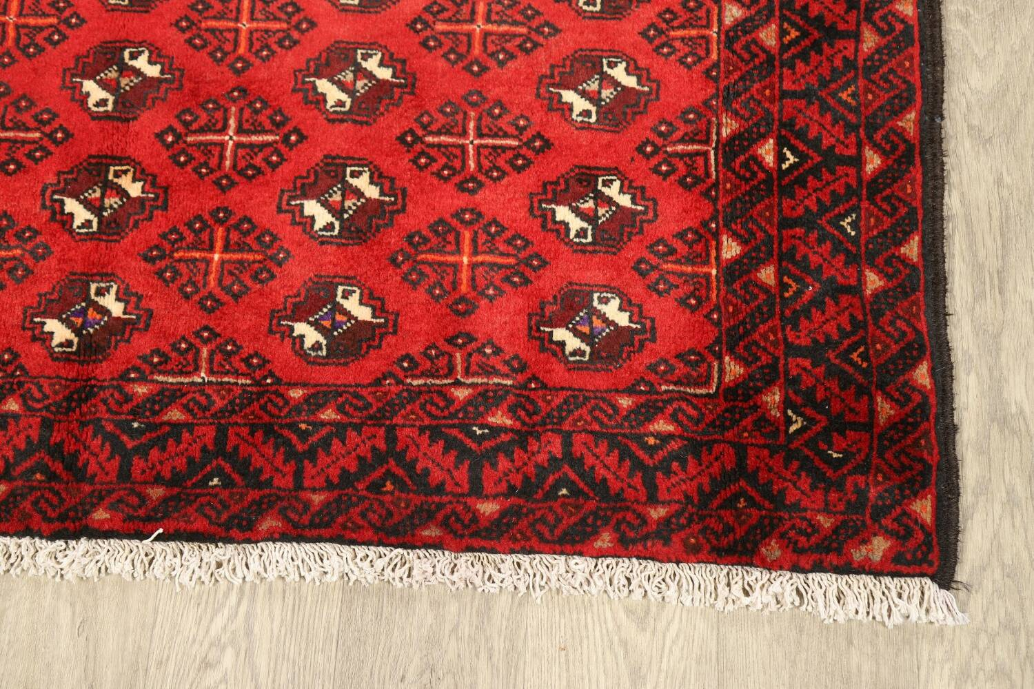 All-Over Red Geometric Balouch Persian Area Rug 4x7 image 6
