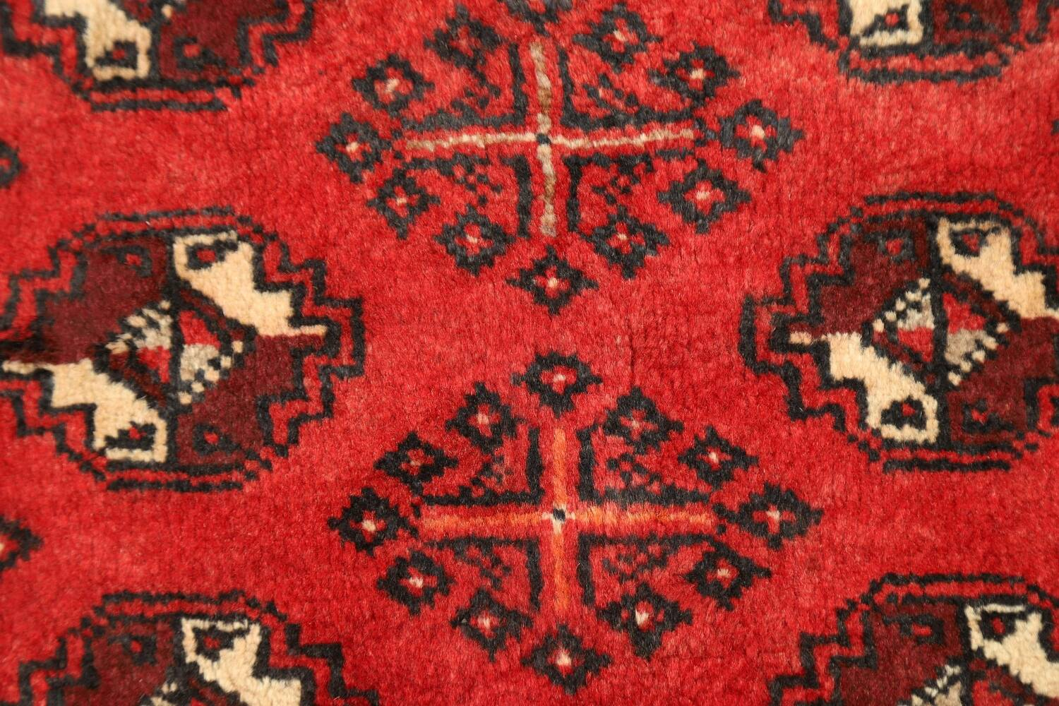 All-Over Red Geometric Balouch Persian Area Rug 4x7 image 8