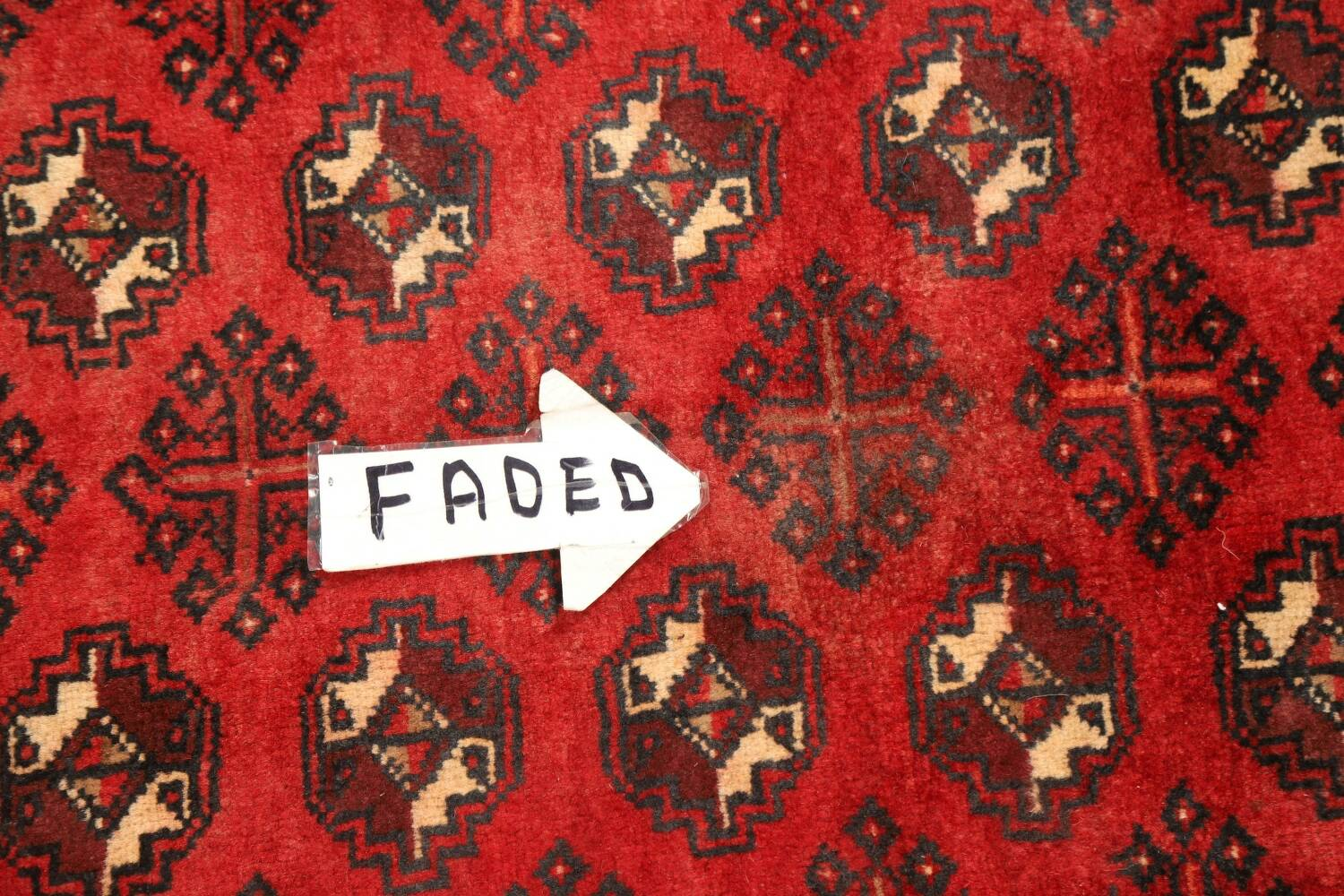 All-Over Red Geometric Balouch Persian Area Rug 4x7 image 13