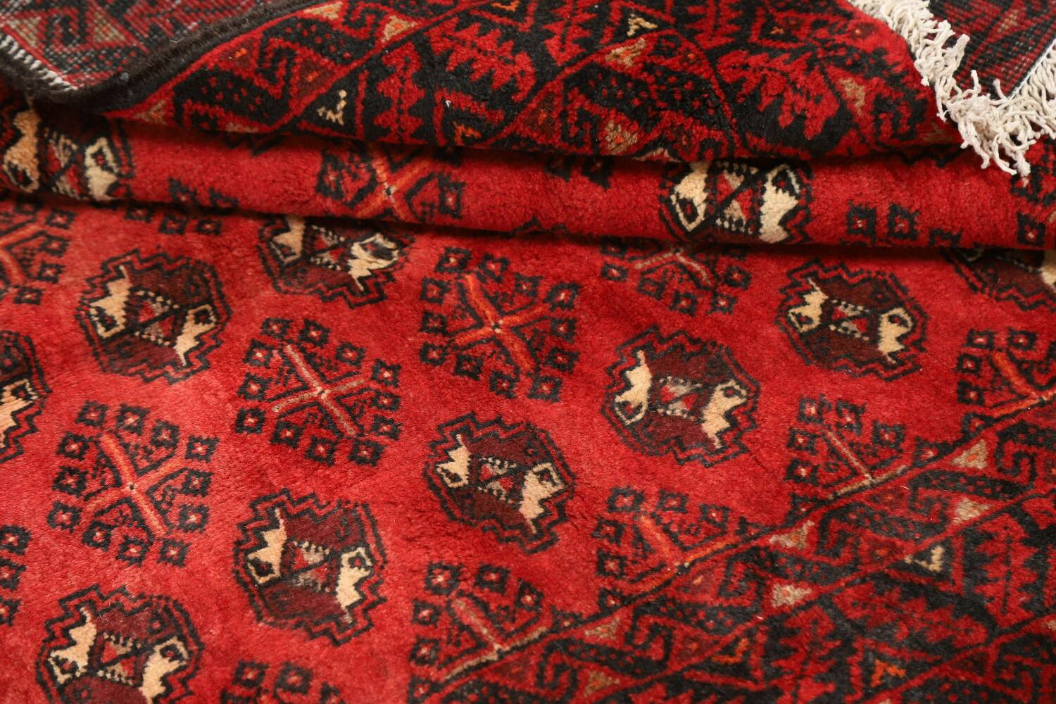 All-Over Red Geometric Balouch Persian Area Rug 4x7 image 15