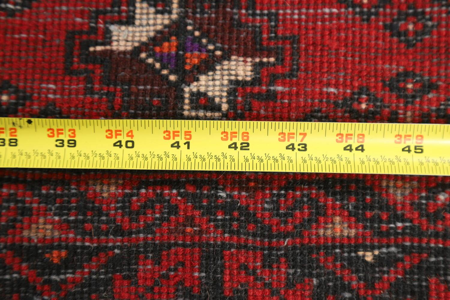 All-Over Red Geometric Balouch Persian Area Rug 4x7 image 20