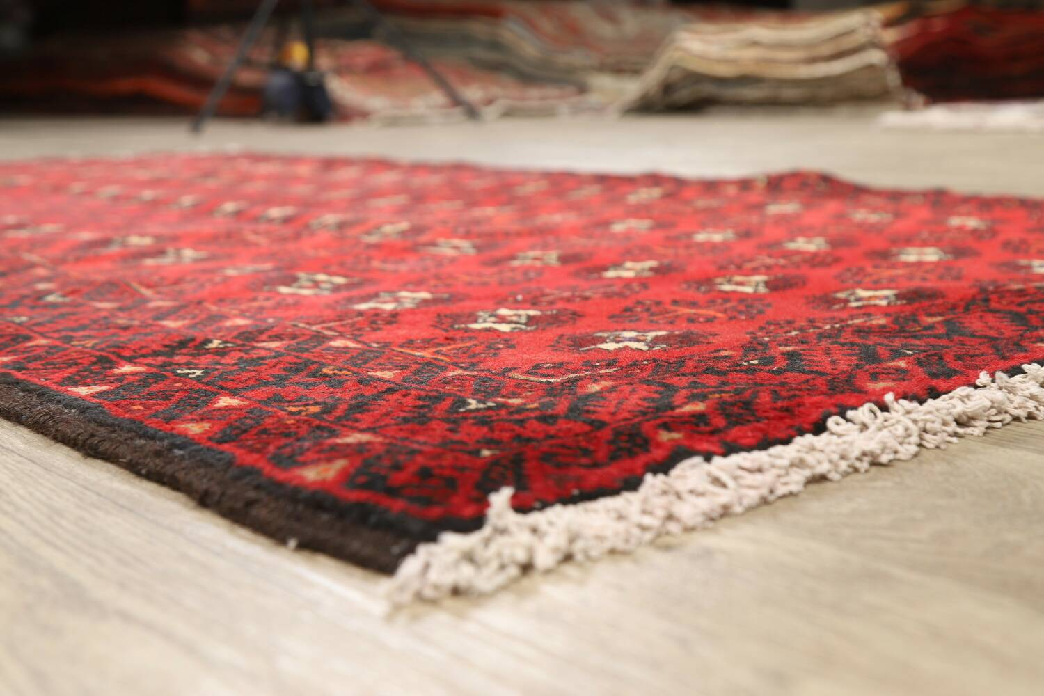 All-Over Red Geometric Balouch Persian Area Rug 4x7 image 21