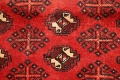 All-Over Red Geometric Balouch Persian Area Rug 4x7 image 7