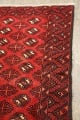 All-Over Red Geometric Balouch Persian Area Rug 4x7 image 10