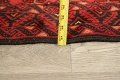 All-Over Red Geometric Balouch Persian Area Rug 4x7 image 17