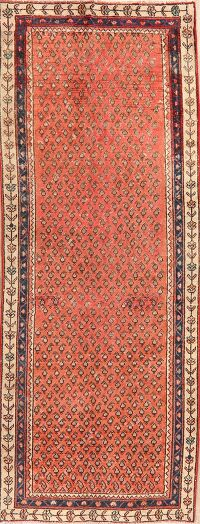 Antique All-Over Boteh Botemir Persian Runner Rug 3x8