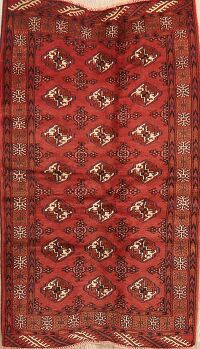 Geometric Red Balouch Persian Area Rug 3x5
