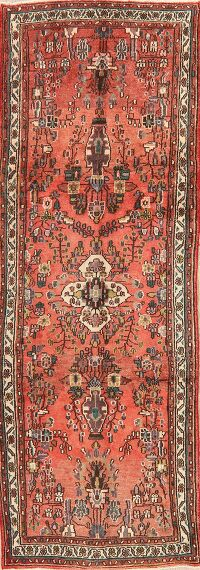 Floral Red Lilian Persian Runner Rug 3x10