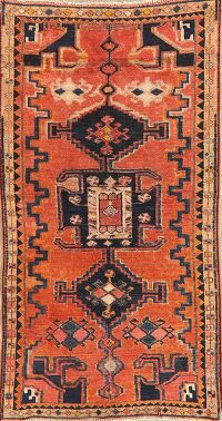 Antique Geometric Lori Persian Area Rug 3x6