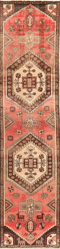 Antique Geometric Malayer Persian Runner Rug 2x9