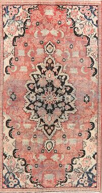 Antique Floral Mahal Persian Area Rug 3x6