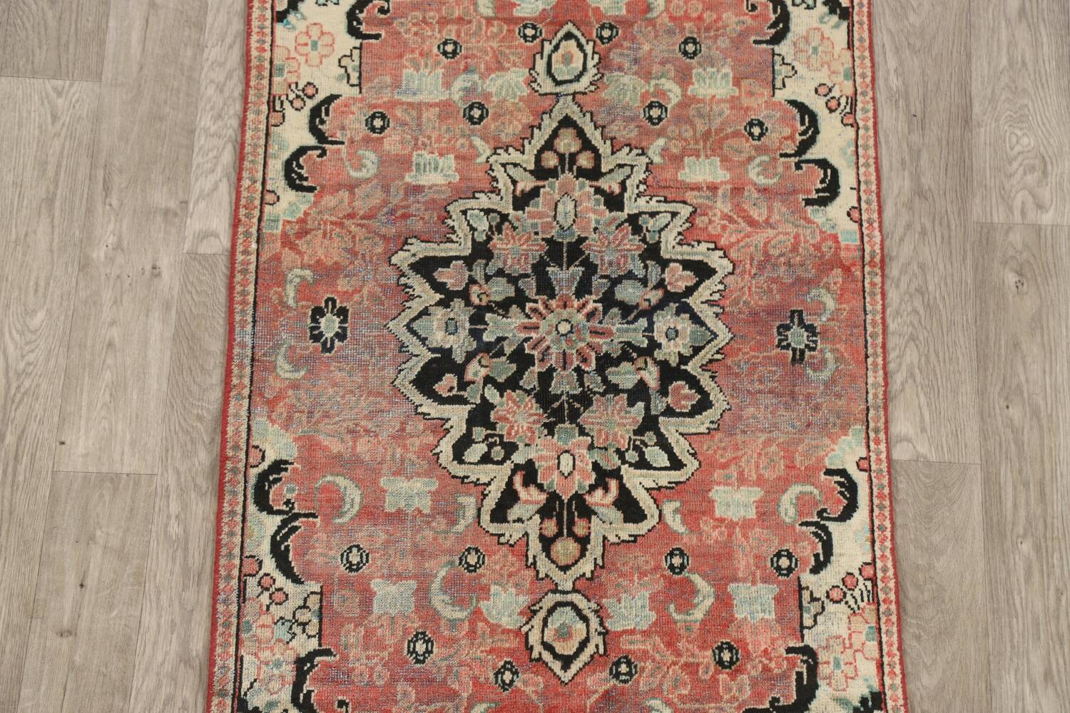 Antique Floral Mahal Persian Area Rug 3x6 image 3