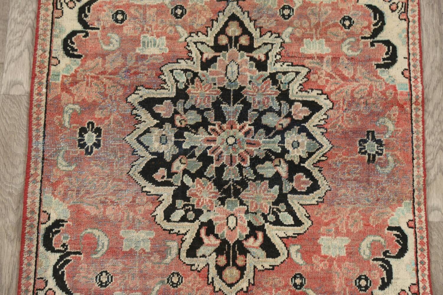 Antique Floral Mahal Persian Area Rug 3x6 image 4