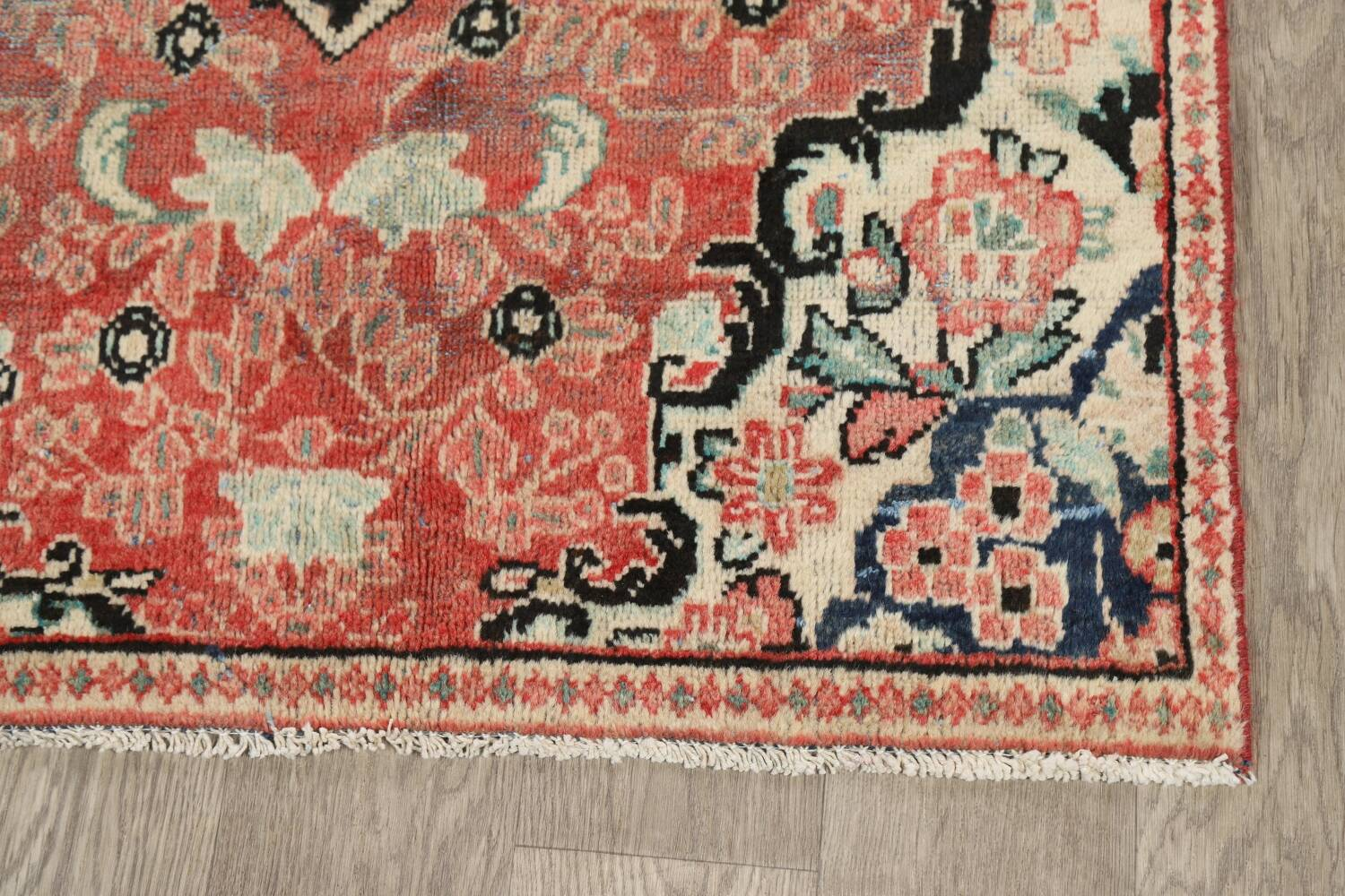 Antique Floral Mahal Persian Area Rug 3x6 image 6