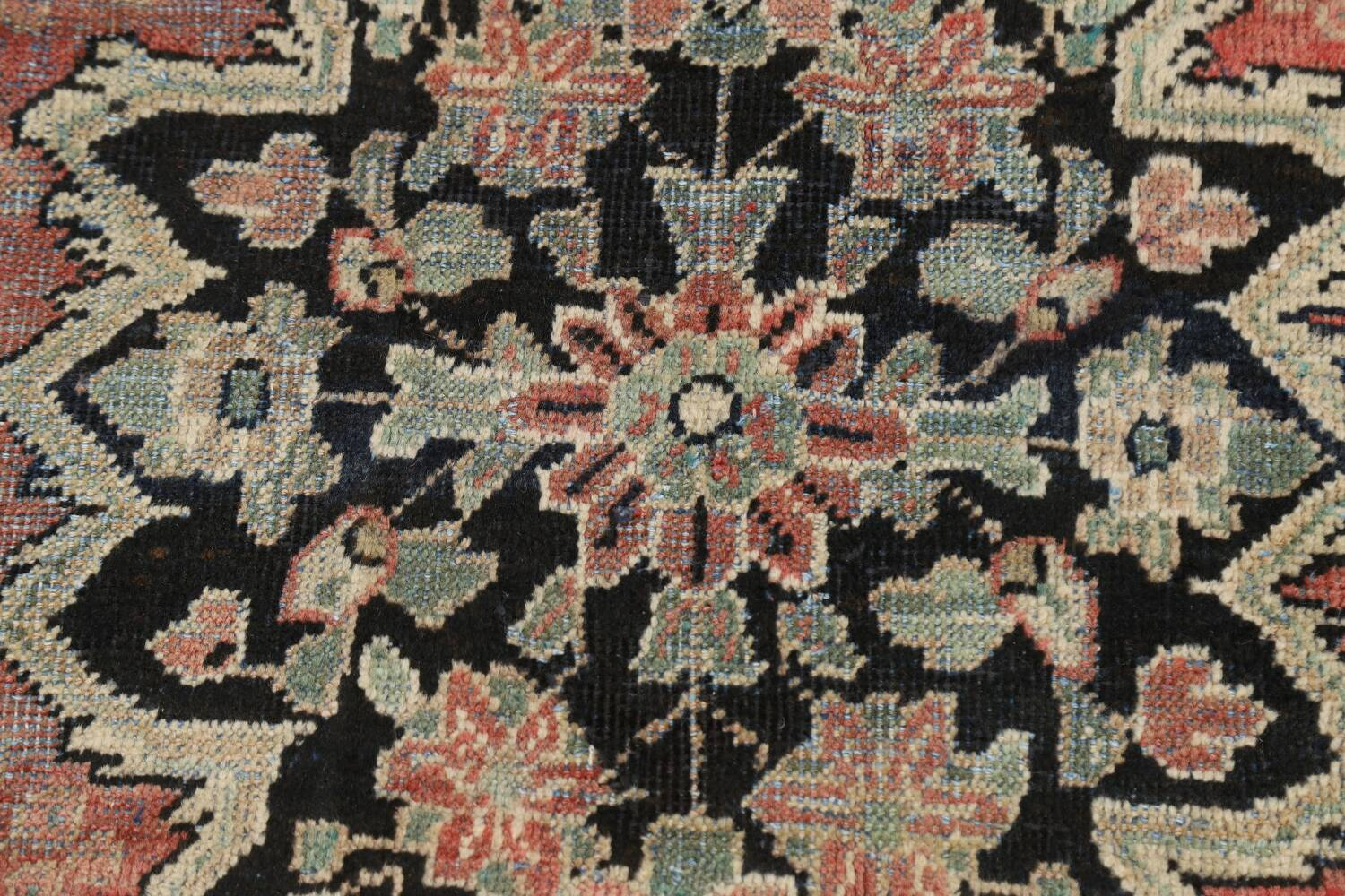 Antique Floral Mahal Persian Area Rug 3x6 image 10