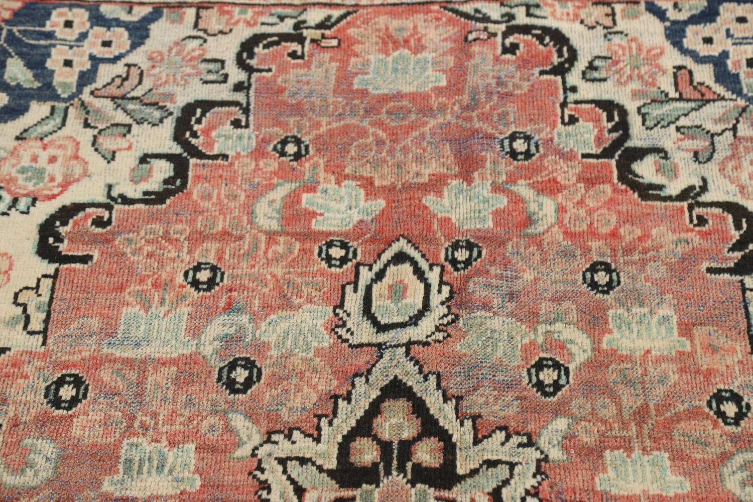 Antique Floral Mahal Persian Area Rug 3x6 image 15