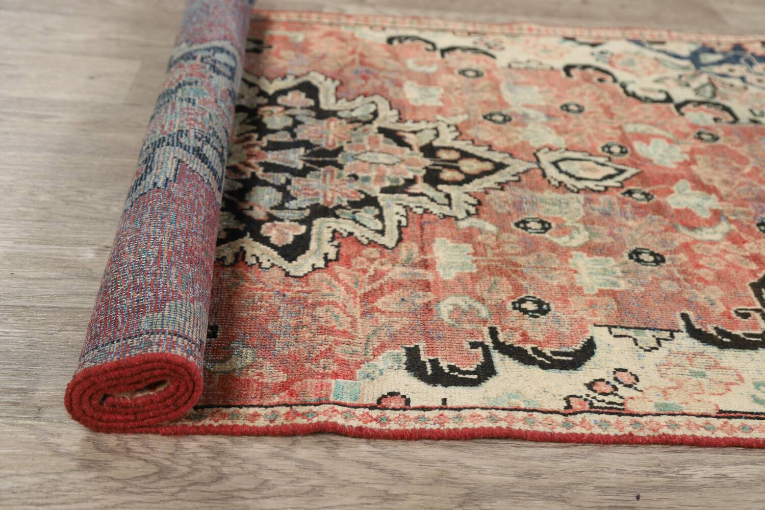 Antique Floral Mahal Persian Area Rug 3x6 image 20