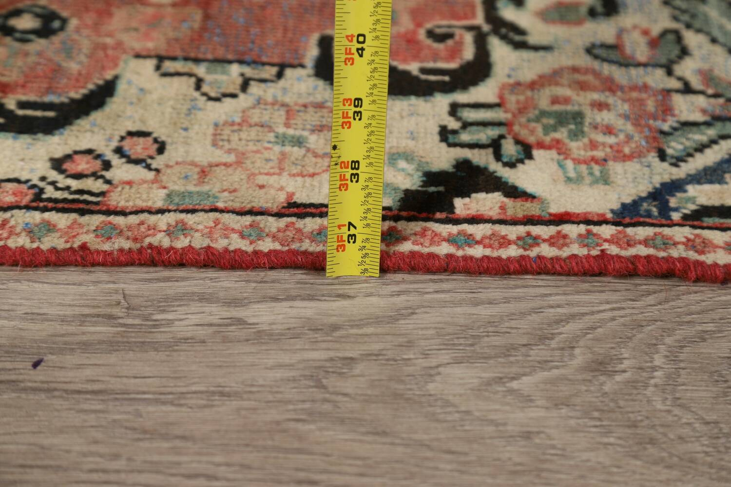 Antique Floral Mahal Persian Area Rug 3x6 image 22