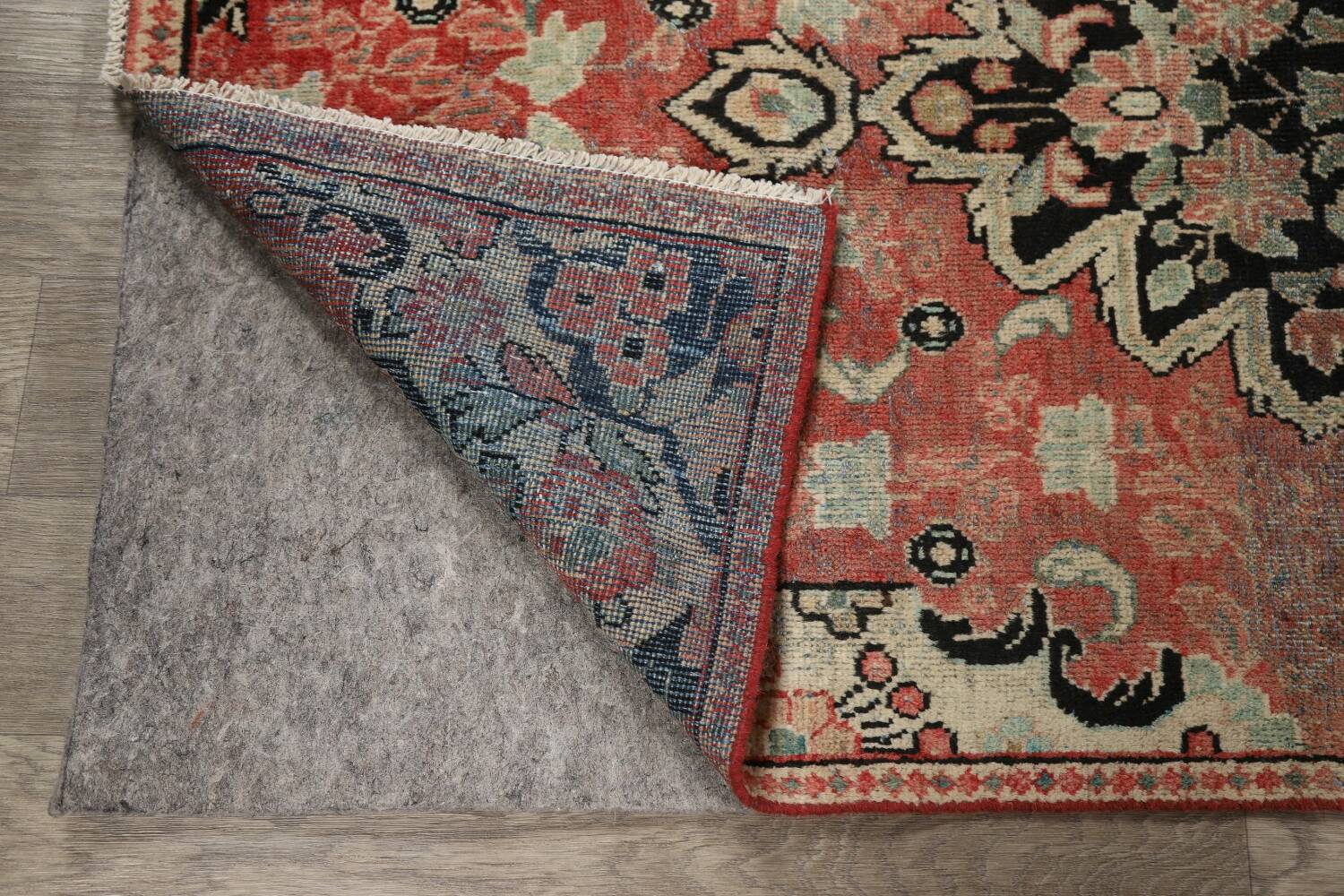 Antique Floral Mahal Persian Area Rug 3x6 image 8