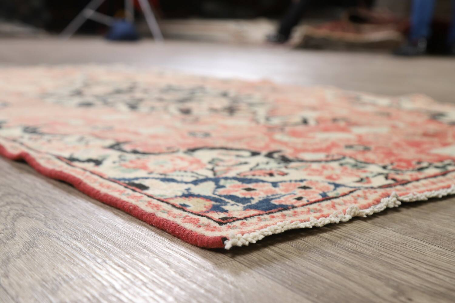 Antique Floral Mahal Persian Area Rug 3x6 image 7