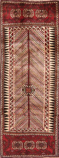 Tribal Geometric Zanjan Persian Runner Rug 3x8