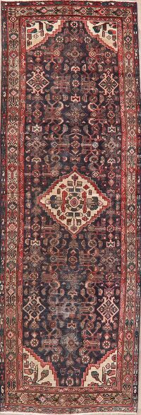 Tribal Geometric Malayer Persian Runner Rug 4x11