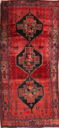 Geometric Bidjar Persian Red Runner Rug 4x10