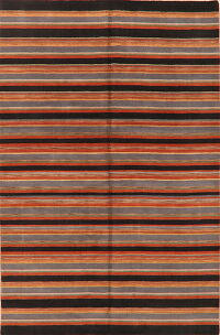 Striped Gabbeh Modern Area Rug 9x12