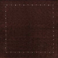 Tribal Gabbeh Oriental Brown Area Rug 10x10 Square