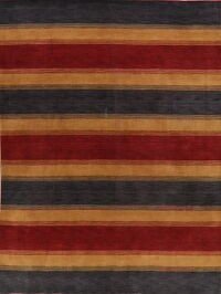 Contemporary Striped Gabbeh Oriental Area Rug 9x12