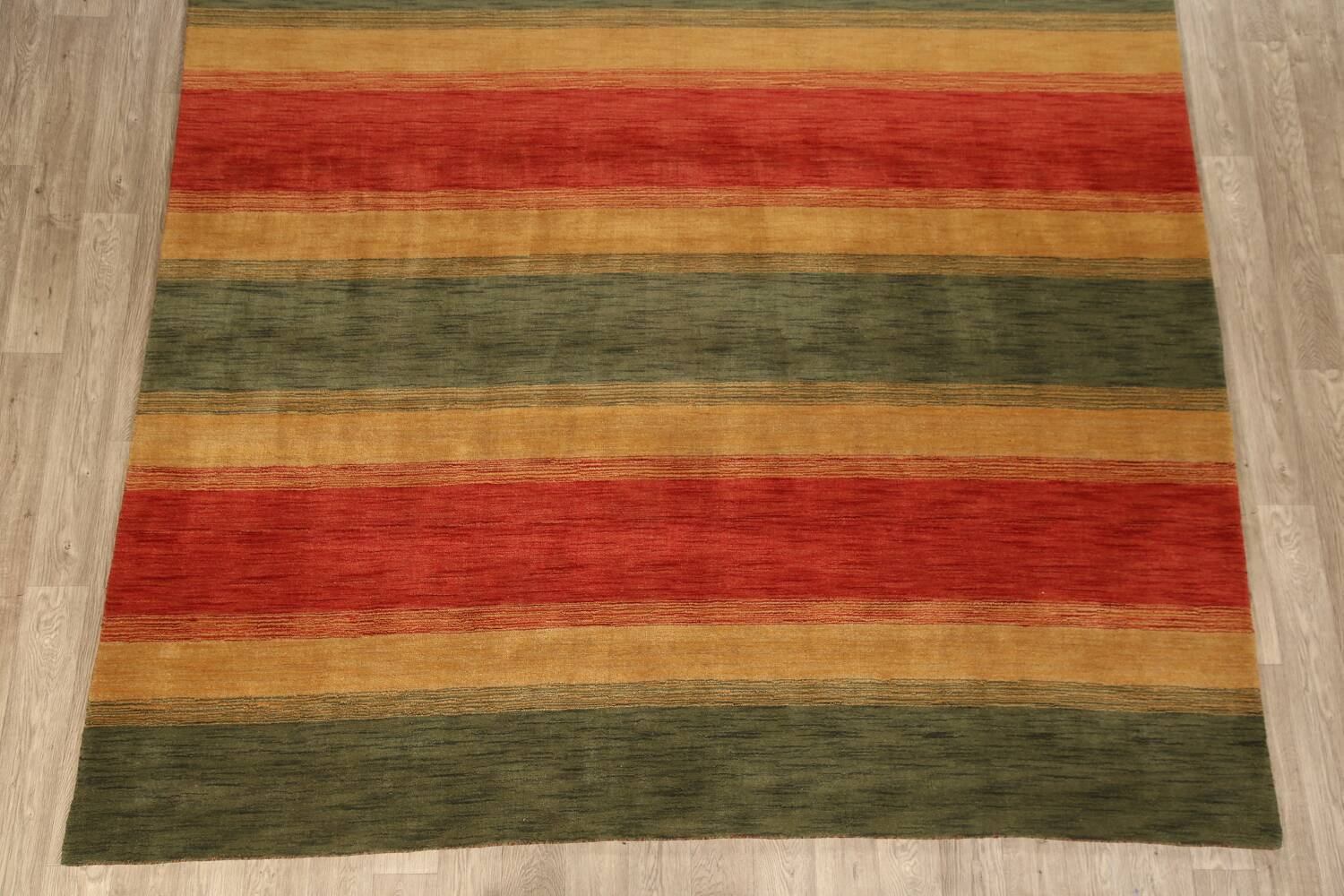 All-Over Striped Gabbeh Oriental Area Rug 9x12 image 8