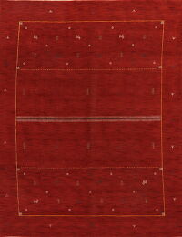 Contemporary Gabbeh Modern Oriental Red Area Rug 9x12