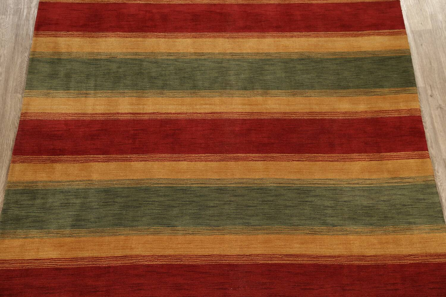 All-Over Striped Gabbeh Oriental Area Rug 9x12 image 3