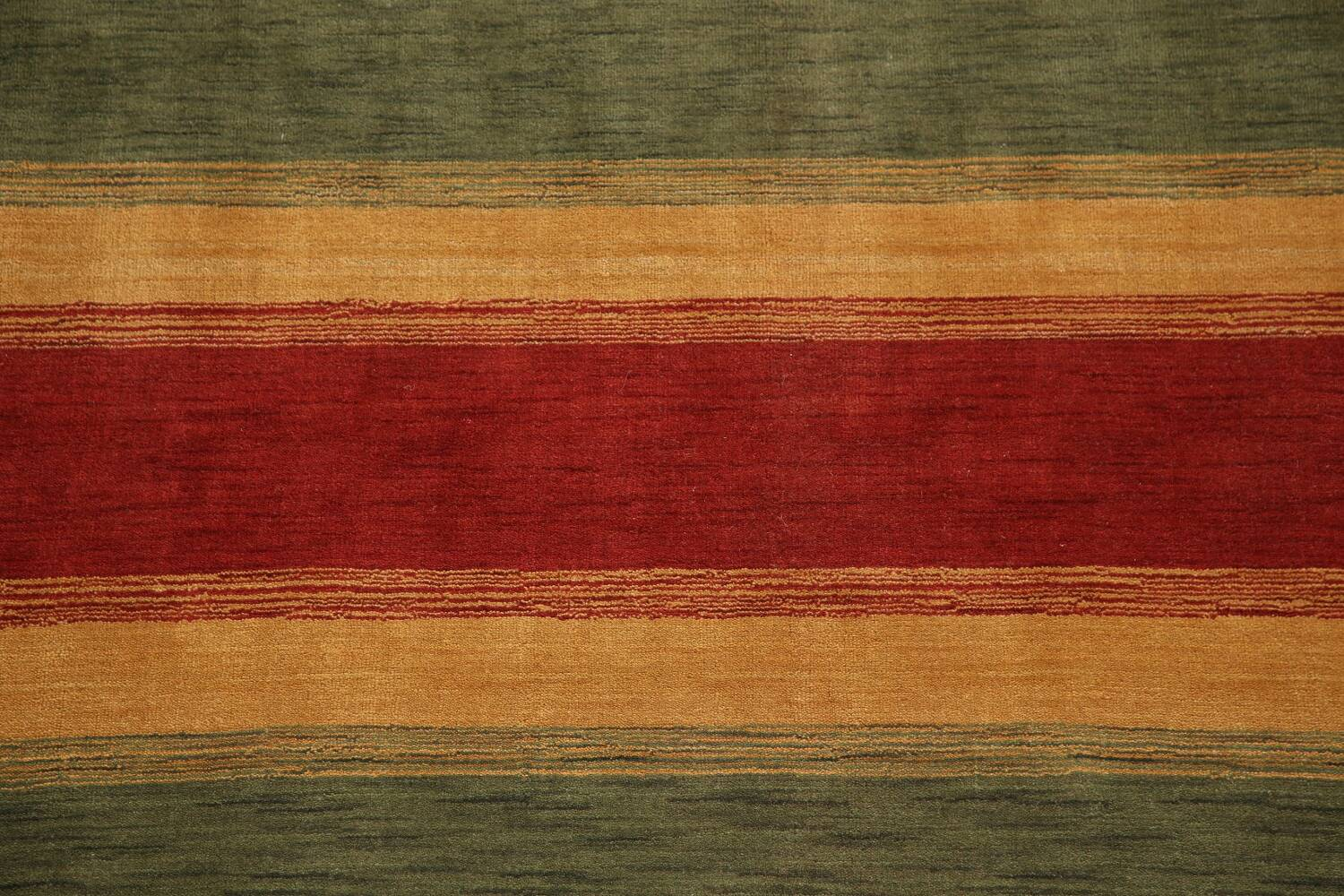 All-Over Striped Gabbeh Oriental Area Rug 9x12 image 4
