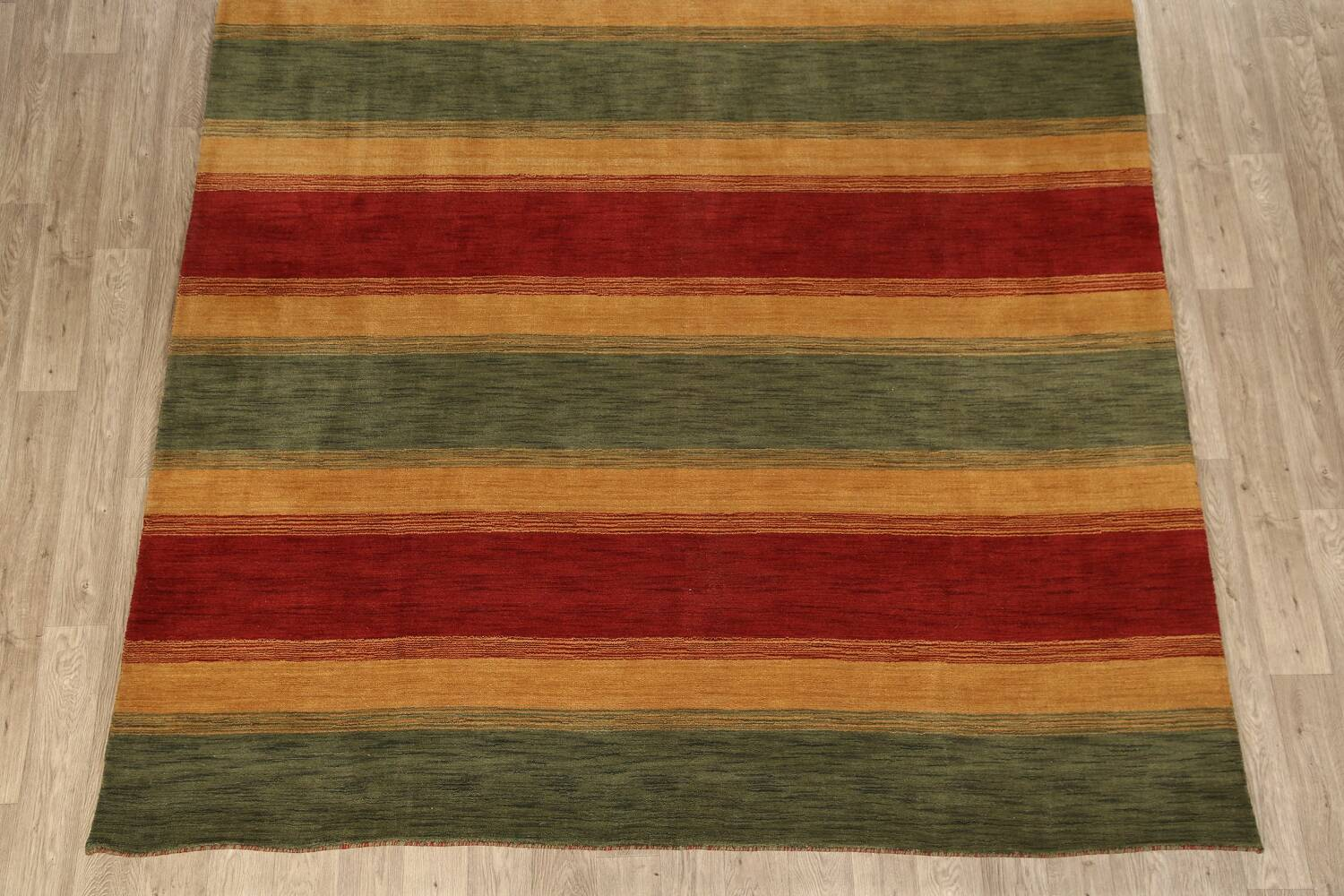 All-Over Striped Gabbeh Oriental Area Rug 9x12 image 5