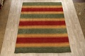 All-Over Striped Gabbeh Oriental Area Rug 9x12 image 1