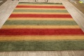 All-Over Striped Gabbeh Oriental Area Rug 9x12 image 12