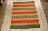 All-Over Striped Gabbeh Oriental Area Rug 8x10