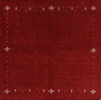 Tribal Red Gabbeh Oriental Area Rug 8x8 Square