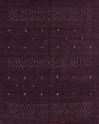 Purple Tribal Gabbeh Oriental Area Rug 8x10
